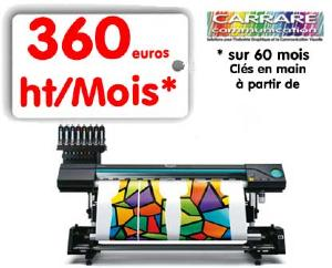 SUBLIMATION 1.60m Texart RT-640 + enrouleur